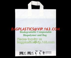 China corn starch based biodegradable shopping bags, Bio-organic fertilizer, eco bags, bio bags, biopolymer, potato starch pac supplier