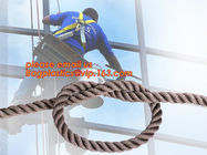 China wall-wash nylon twisted safety rope, wall-wash nylon safety rope factory