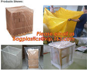 China Plastic reusable thermal pallet cover, Heavy Duty Waterproof Pallet Cover Tarp, LLDPE Elastic Pallet Packaging Bag Cover factory