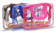 China Portable clear pvc cosmetic bag women waterproof travel cosmetic bag set fine gift transparent cosmetic makeup factory