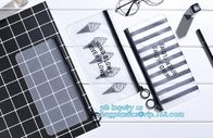 PVC slider bag plastic zipper bag vinyl cosmetic bag, Clothes Packaging Suited Frosted bags, PVC/EVA Vinyl Slider Top Zi