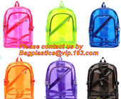 China Backpack Bag Casual Backpack For Women, outdoor clear pvc plastic backpack, school travel backpack with padded shoulder factory