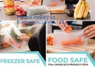 Essential housewares, Fresh Lock, Seal Fresh, Portable Reusable Food Ziplock Seal Silicone Fresh Freezer Bag For Travel