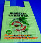 Corn Starch Eco PLA 100% Compostable Plastic t-shirt Shopping Bags,disposable carry shopping bags 100% compostable corn