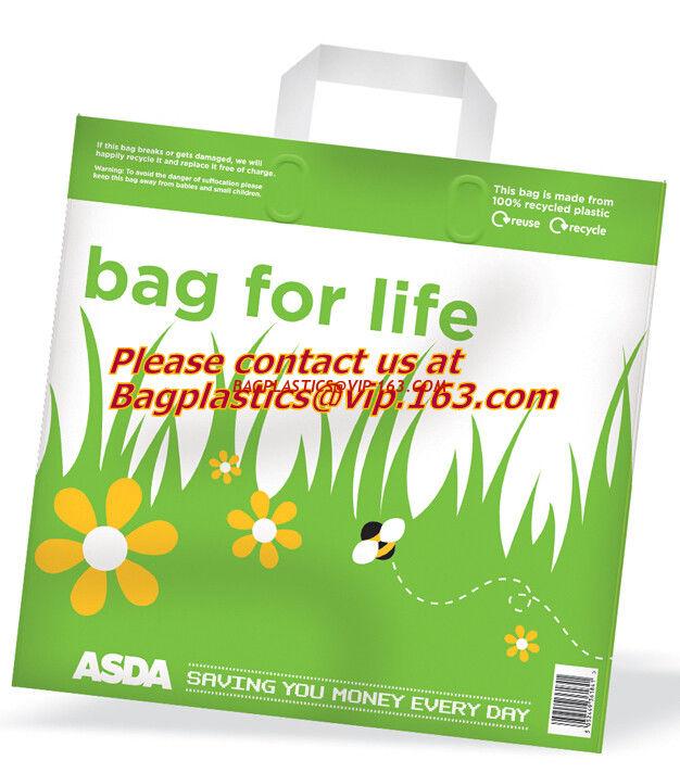 Soft Loop Handle Plastic Bag Manufacturer Cheap Black