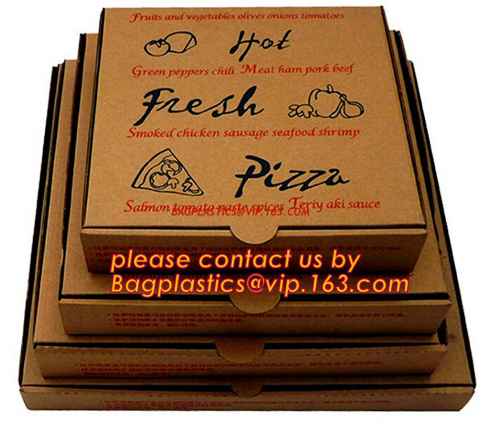 Cheap Custom Offset Printing Corrugated Pizza Box Micro Flute Die Cut Corrugated Pizza Boxes
