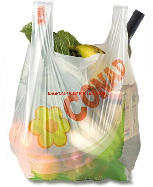 Customized Compostable Biodegradable Plastic T-shirt Bags