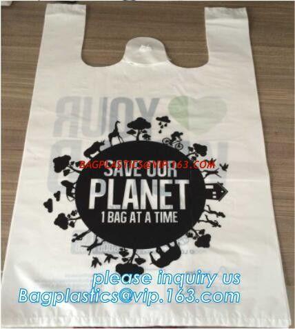 China Manufacturer 100 Biodegradable Singlet Bags With En13432 Bpi Ok Compost Home Astm D6400