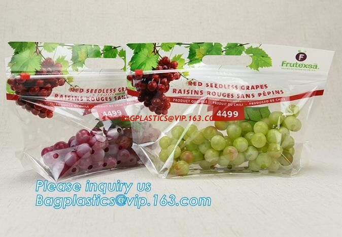 cpp printed slider zip lock vegetable fruit bag, grape