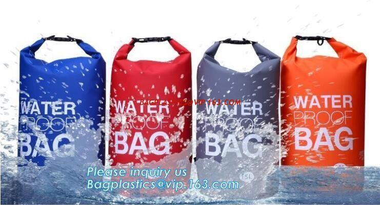 57397d1af74a China Custom Logo Low MOQ 500D PVC Tarpaulin 40L Outdoor Camping Hiking  Climbing Bag Fully Waterproof