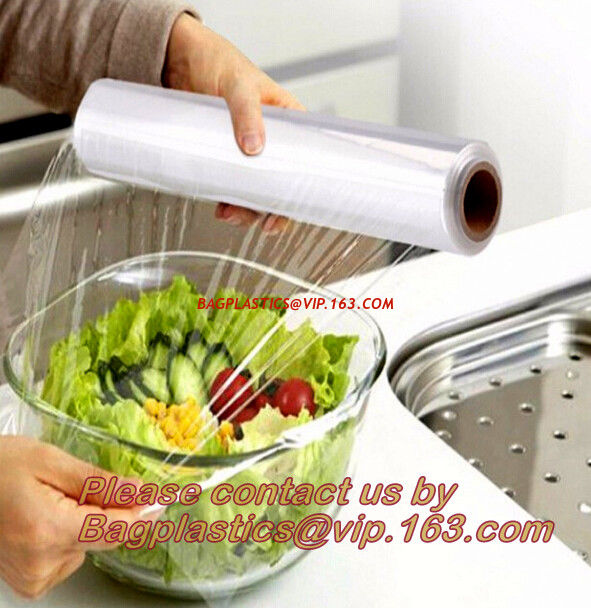 PE food wrap, PVC cling film plastic wrapping film for food wrap