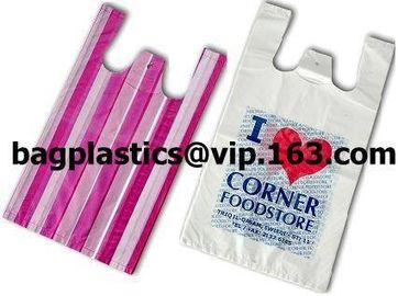 T shirt bags, carriers, carrier, vest carrier, shopper, vest bag, grocery bag, tie top bag