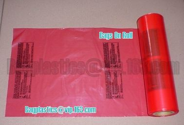 red bags, carton liner, can liners, drum liner, Gaylord liners, Green Bags, Header Bags