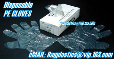 plastic gloves, piping bags, wickted bags, gloves, foil, aluminium, apron, seafood bags