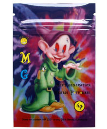 SCOOBY SNAX herbal incense bags, herbal incense bags, Foil laminated bags, zipper bags