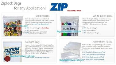 snap seal bags, specimen bags, gusseted zip bags, zip locking bags, jeweler bags, anti