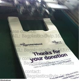 Poly donation bags, charity sacks, green sacks, yellow bags, pe envelope, charity bags