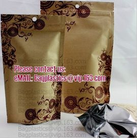 China Custom Logo & Design Stand Up Pouch Kraft paper bags, Cookie packaging, Tea pack, Coffee pack, Oil packaging, Juice pack factory