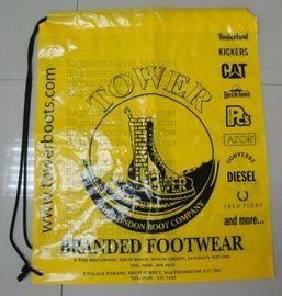 prompt response printed soft loop handle ldpe polythene carry bags, draw string bags, draw