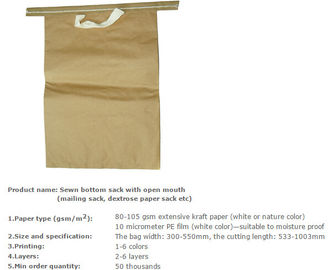 Multiwall paper sack, Medicine packing bag, Maltitol crystal packing bag, Mail paper bag, Grain packing sacks