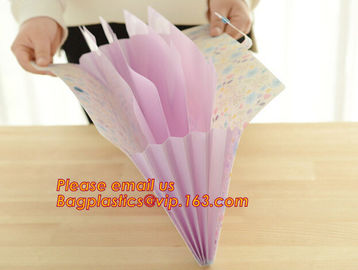 China hot selling plastic pp rainbow expanding file wallet folder with elastic band factory