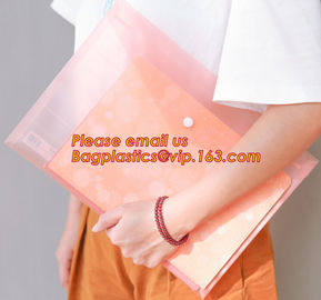 China Promotional plastic PP waterproof paper files folder a4, Stylish PP a4 file folder, A4 felt document bag file folder factory