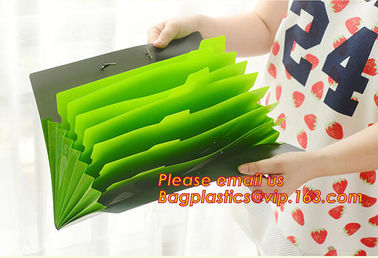 China office storage pp expanding cascading file folder with 7 multicolor pockets, office supplies pp A4 plastisc expanding ha factory
