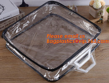 China Eco-friendly wholesale travel cosmetic bag clear zipper pvc cosmetic bag for women factory