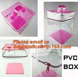 Custom made all kinds transparent plastic make up bag clear pvc cosmetic bag for women, new fashion eco-friendly cheap w