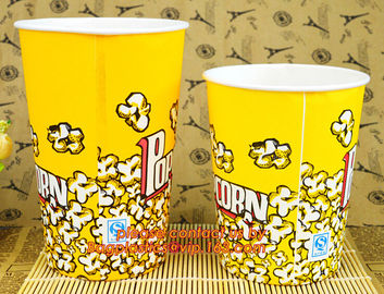 Good Quality New Design Cheap 16Oz Popcorn, 8oz/12oz/16oz/20oz disposable hot drink coffee paper cup with lid and sleeve