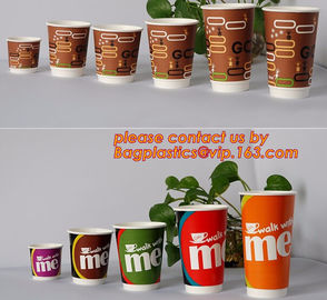 12oz double wall disposable custom printed ripple paper cup, paper tea cups disposable double wall paper cups supplier