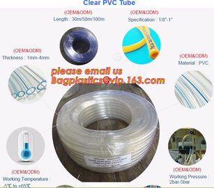 PVC Transparent Hose Clear Suction no-kinking PVC tubing Soft Clear PVC Tube