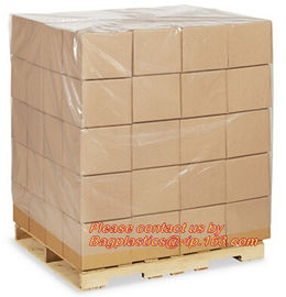 Plastic flat bottom vinyl cover /plastic poly pallet cover, Big square bottom poly pallet cover, huge clear plastic pall