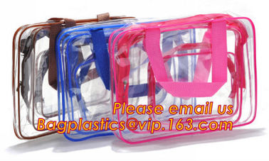 Portable clear pvc cosmetic bag women waterproof travel cosmetic bag set fine gift transparent cosmetic makeup