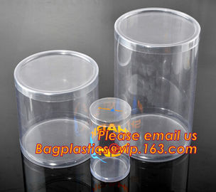 round plastic tube,clear plastic round pet tubes,soft food grade PET round tube box
