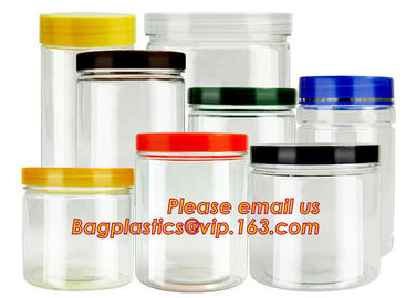 gift packaging clear plastic large round storage box, Food grade clear plastic round PVC tube metal lid box