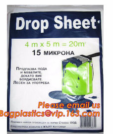 plastic disposable cover sheet to protect the furniture, Plastic protective drop cloth/ dust sheet/cover film