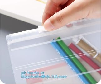 PP Zipper Slider Bag, Plastic Buckle Bag Storage slider zipper bag, slide grip report cover slider bar clear folders