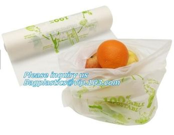 China ok compost home certified custom wholesale PLA based biodegradable compostable vegetable fruit plastic produce bag on factory