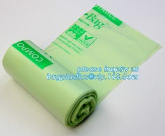 China eco friendly wholesale cornstarch custom color printed 100% biodegradable compostable plastic garbage bags on roll factory