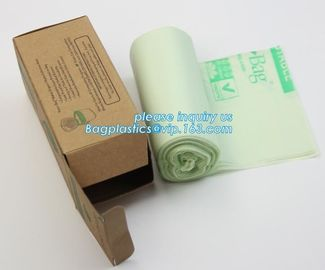 Eco friendly biodegradable plastic compostable garbage bags on roll, Compostable Disposable Colored Plastic Garbage Bag