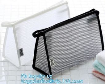 China Travel Accessories Makeup Organizer Mesh Cosmetic Bag Makeup Pouch, Purse Size Cosmetic Bag, Pocket Daily Net Fabric Mak factory