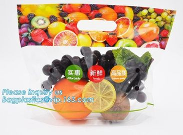 China slider zip lock packaging fruit bag for cheery and grape, Vegetable refrigerate used resealable ziplock packaging bag factory