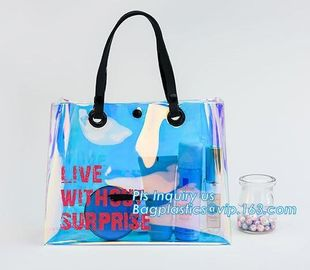 custom pvc handle bag,pvc gift bag, packaging packing handle bag with button close, vinyl clear pvc tote bags, Reusable