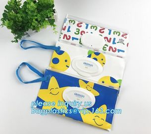 reusable wet wipe pouch dispenser for baby or personal wipes, Custom logo gravure printing side gusset EVA wet wipes org