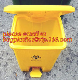 50L Street Stand Sanitary Waste Garbage Collected Plastic Trash Bin, 240 L trash cans trash container medical trash bin