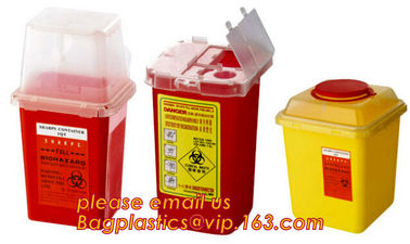 sharpsguard yellow lid 1 ltr sharps, sharps disposal container 1quart wall mounted medical for hospital and clinic