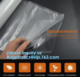 Embossing Resealable Vacuum Food Bags For Household Eco- friendly Texture Vacuum Food Storage Plastic Bag Rolls Moisture