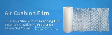 China Air cushion film, protective air pillow bag, wine bottle air column packaging bag, bubble cushion wrap, bagplastics, pac factory