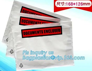 China China supplier self adhesive water proof clear packing list envelope, Poly enclosed express paper bags custom mailing ba factory